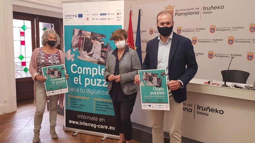 Presentación de la herramienta que permite a los comerciantes de Pamplona hacer un diagnóstico sobre su madurez digital