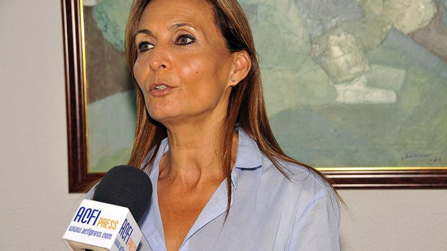 La candidata del Partido Popular al Ayuntamiento de Agaete, María del Carmen Rosario Godoy.