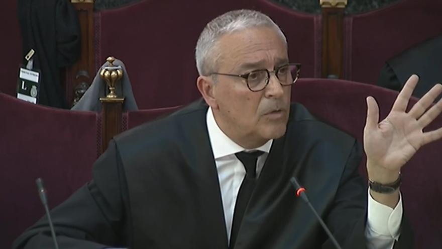 Xavier Melero, durante la presentación del informe final del juicio.