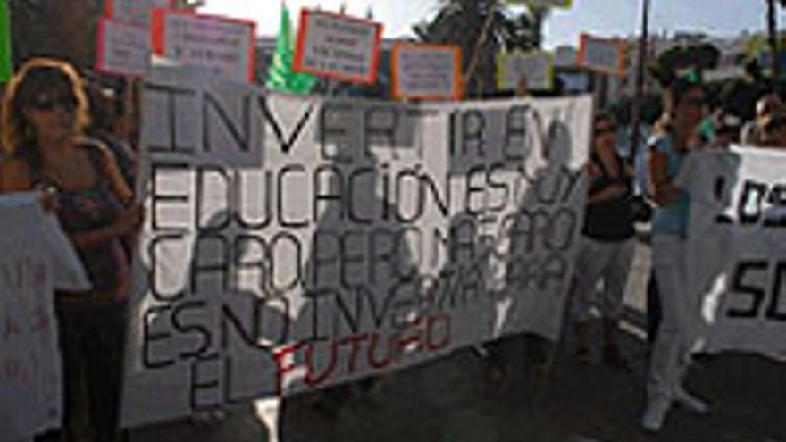 Protesta en la capital grancanaria.