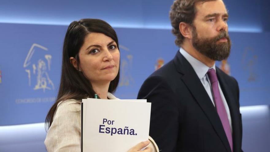 Los dirigentes de Vox, Macarena Olona e Iván Espinosa de los Monteros