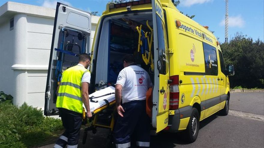 Imagen de archivo de una ambulancia de soporte vital básico.