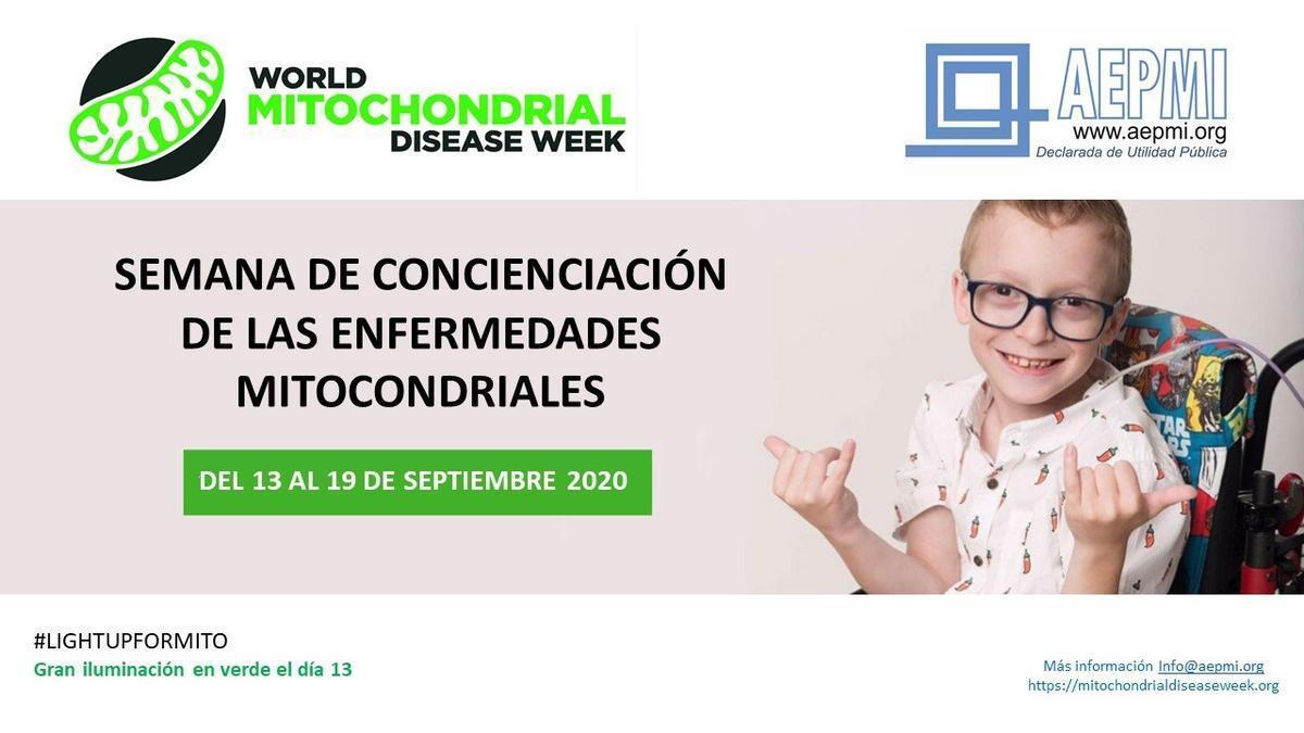 Cartel de la Semana de Concienciación de las  Enfermedades Mitocondriales