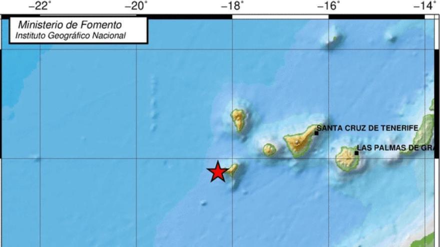 Terremoto detectado por el IGN en El Hierro.