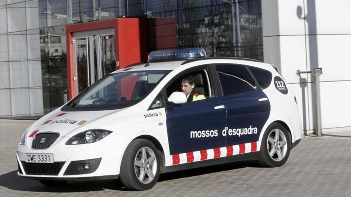 Un coche patrulla de los Mossos d'Esquadra