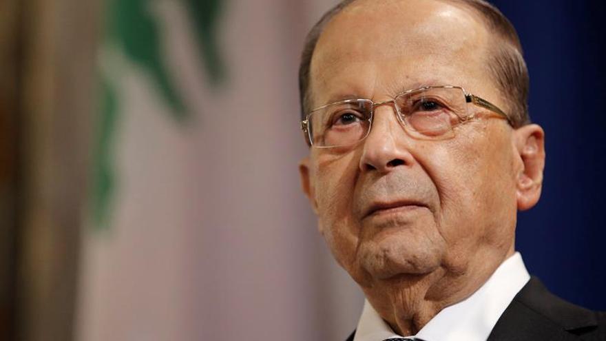El presidente libanés, contento por el anuncio del próximo regreso de Hariri
