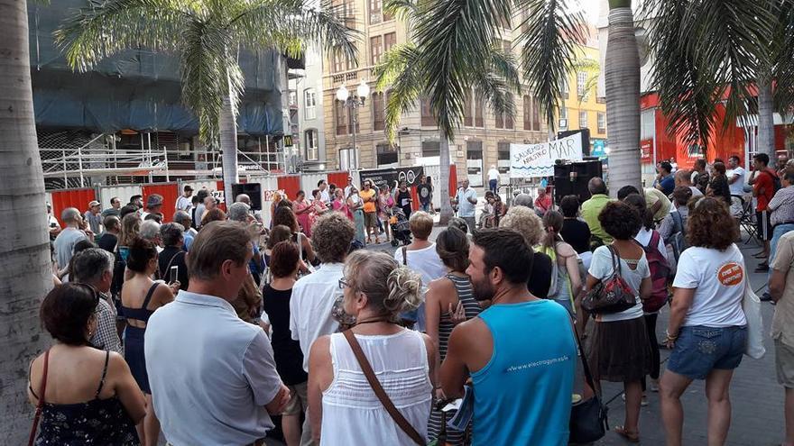 Imagen del acto ciudadano celebrado este jueves en Santa Cruz