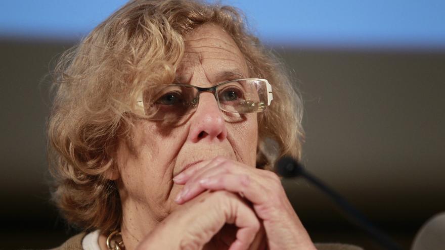 """Carmena cree que aquí hay """"riesgo pequeño"""" comparado con el de otros países porque España """"no está en guerra"""""""
