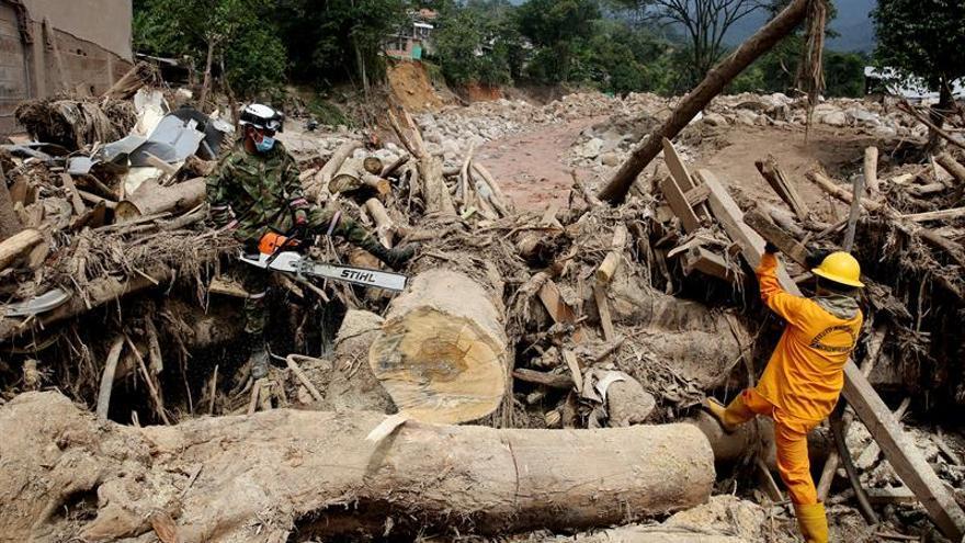 Santos admite que hay una cifra significativa de desaparecidos por la avalancha