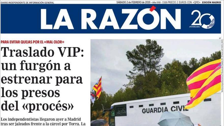 La Razón. Traslado VIP.