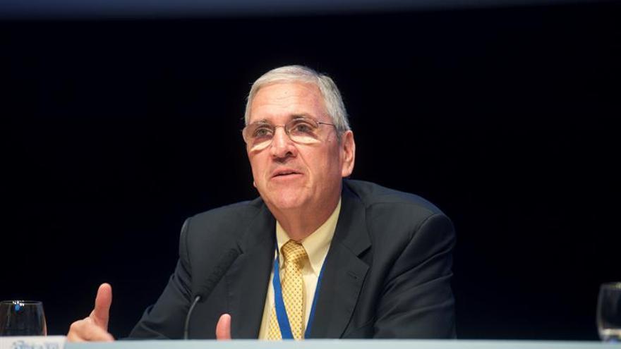 El coordinador principal de Promoción Comercial de la Oficina de Asuntos Económicos y Regionales de Asuntos Africanos del Departamento de Estado en Estados Unidos, Jim Wilson. EFE/Carlos De Sáa