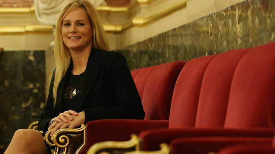 La diputada del PSOE y excomandante Zaida Cantera.