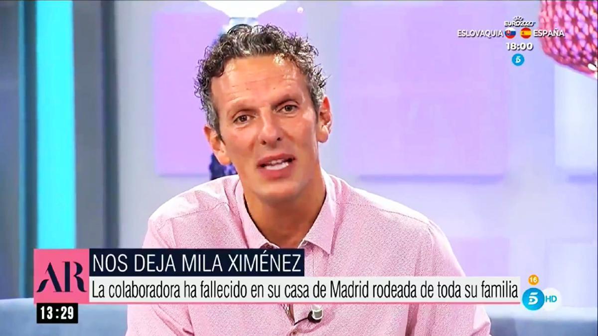 Joaquín Prat anunciando la muerte de Mila Ximénez