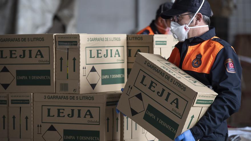 Feines de repartiment de material sanitari adquirit per la Diputació de Castelló.
