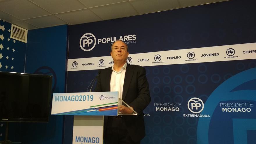"""Monago anuncia que abandona el Pacto por el Ferrocarril de Extremadura por la actitud """"cobarde"""" de Vara con Sánchez"""