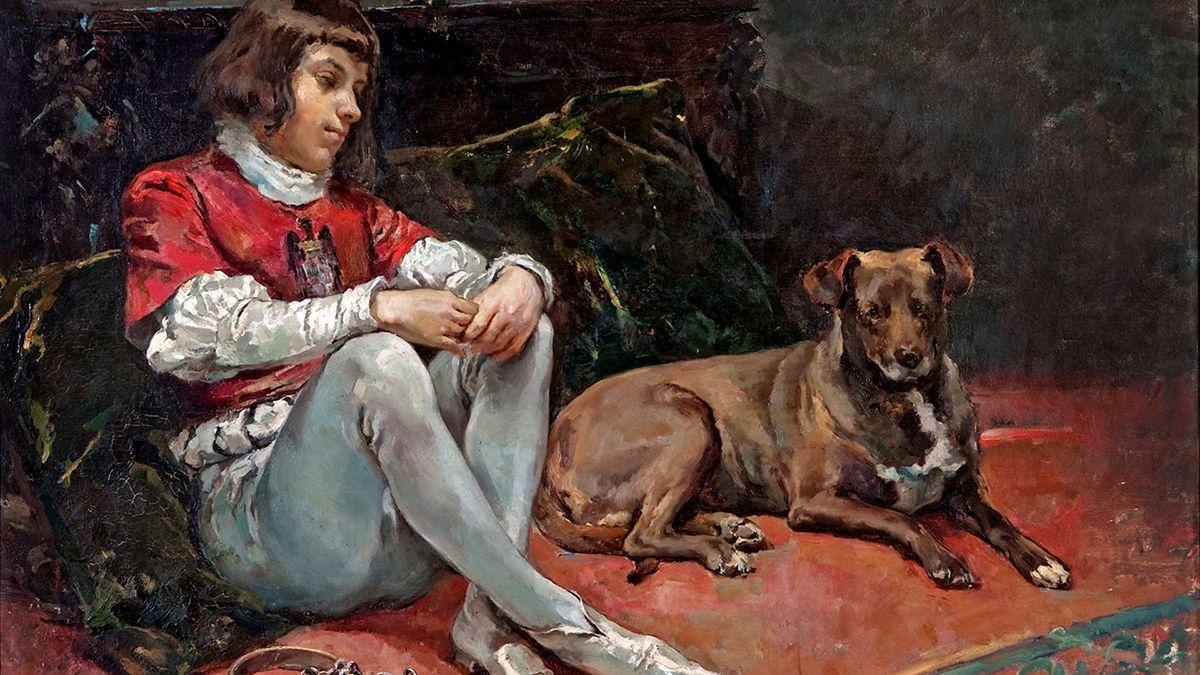 El lienzo 'La Prisión del Príncipe de Viana', del pintor cordobés Tomás Muñoz Lucena.