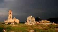 Restos del Poble Vell de Corbera de Ebro, que sufrió intensos bombaredeos durante la Guerra Civil española. COMEBE