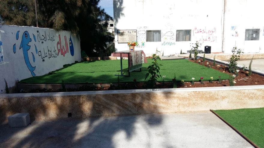 Un espacio dedicado al agua dentro de uno de los colegios