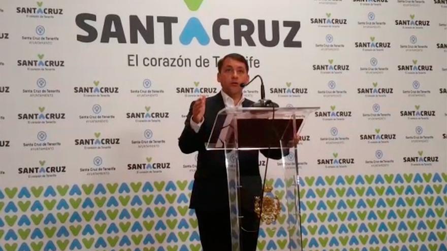 El alcalde Bermúdez, en su intervención tras conocer la sentencia contra Miguel Zerolo