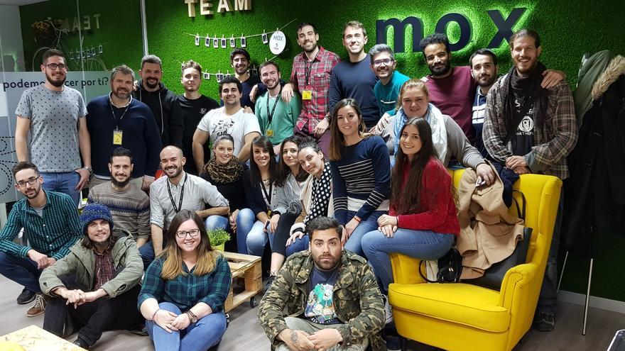 El equipo de MissionBox, en sus instalaciones de Sevilla.