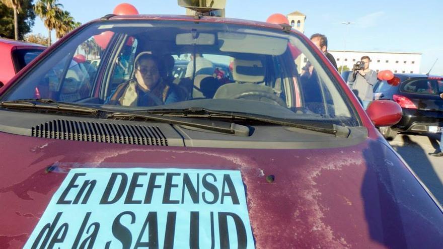 Caravana-concentración de la APDHA ante las cárceles de Puerto I y II