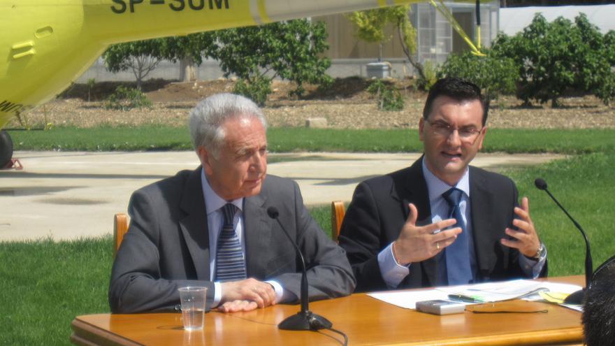 El ex consejero de Medio Ambiente, Modesto Lobón (PP) y el ex director general de Gestión Forestal, Roque Vicente (PAR)