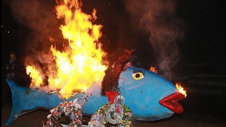 Sardina incinerada, en una imagen de archivo