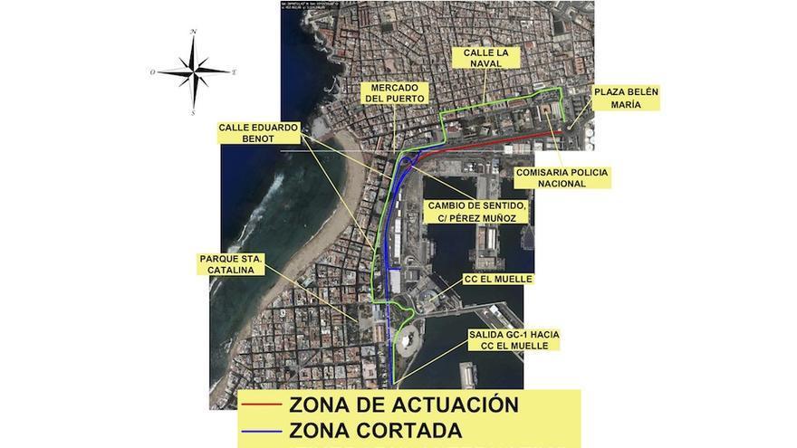 Recorrido alternativo en sentido Puerto.