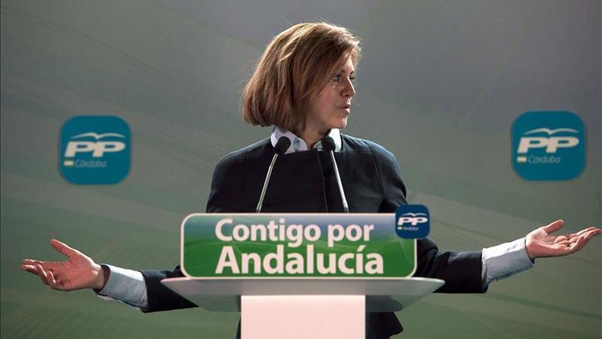 Cospedal: El único problema estructural de Andalucía se llama PSOE