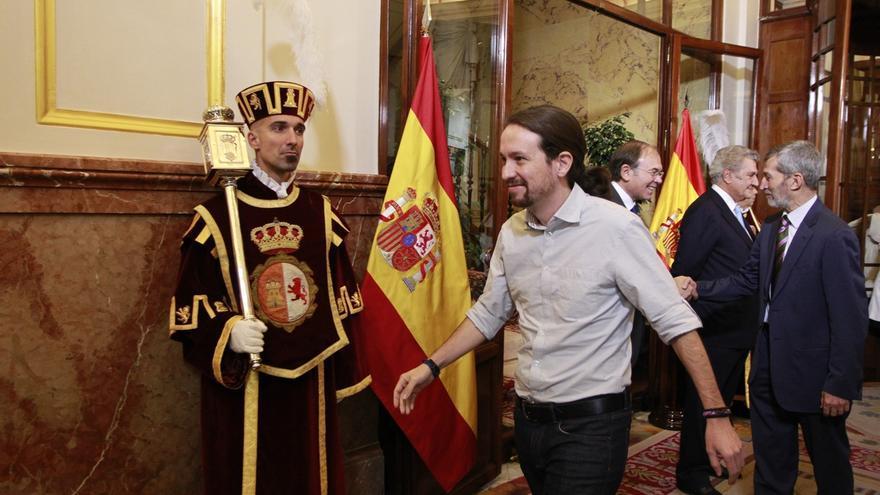 Pablo Iglesias recoge este martes en el Congreso su acta de diputado