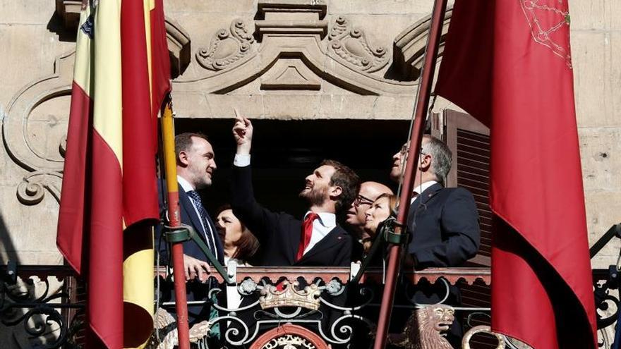 """Casado asegura que la """"prueba del algodón"""" del PSOE está en Navarra"""