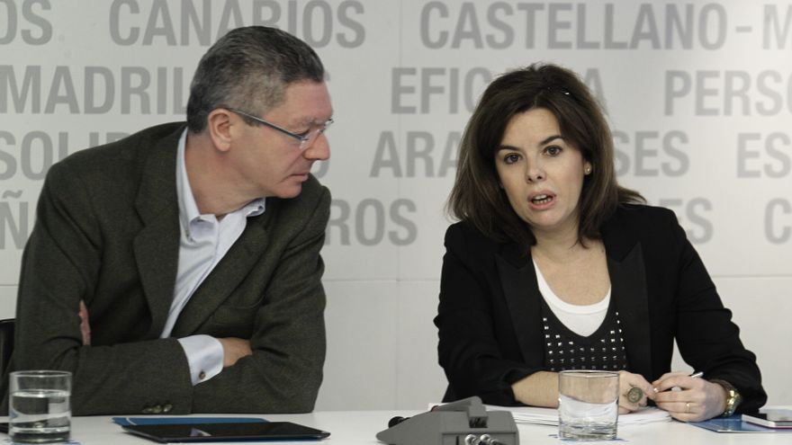 Dirigentes del PP consideran que Moncloa suavizará la reforma que prepara Gallardón