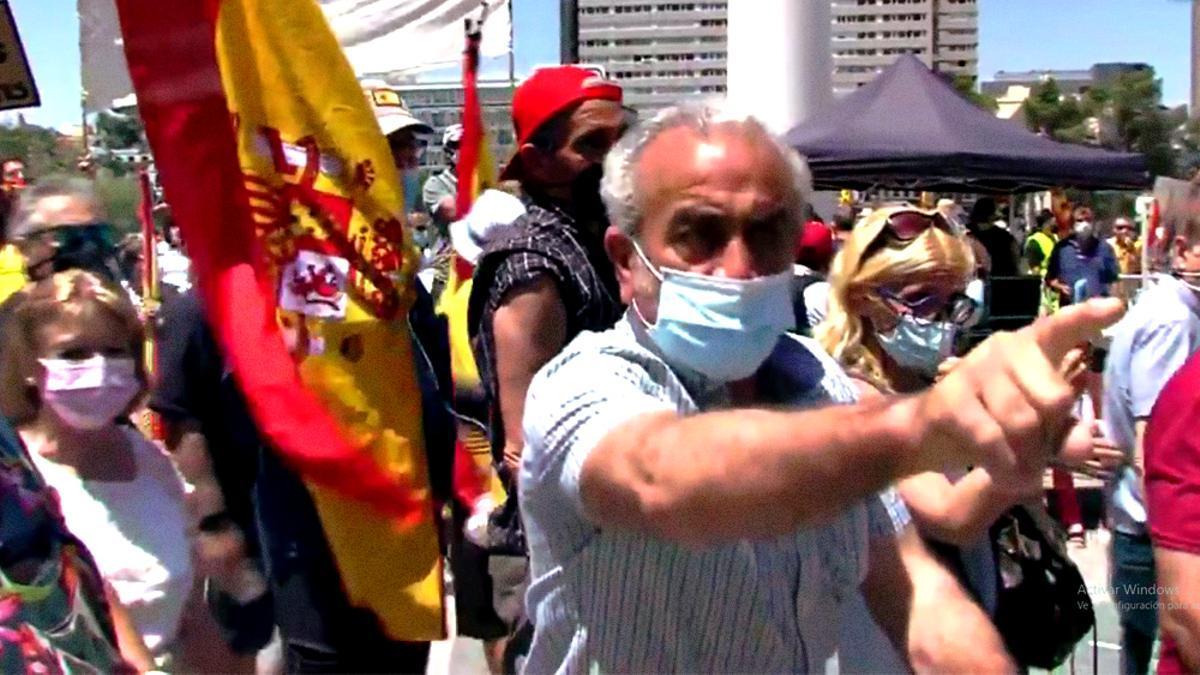 Ataques a TVE en la manifestación de Colón