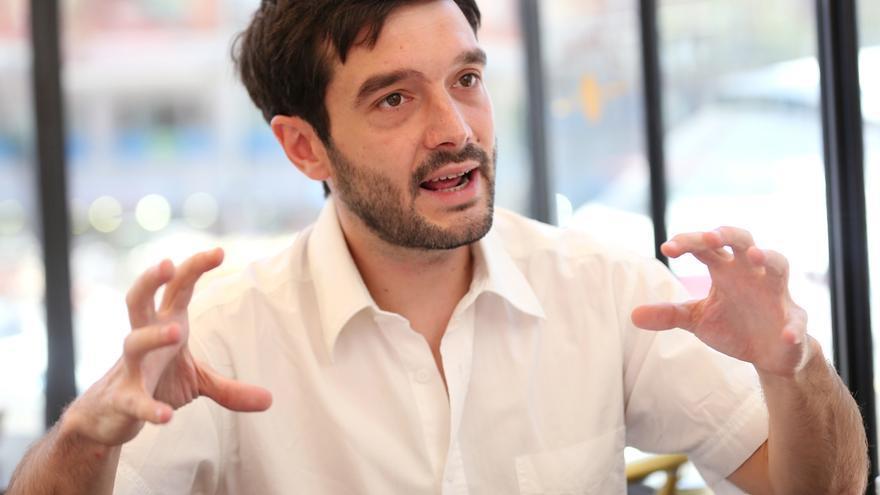 Pablo Bustinduy, durante una entrevista con eldiario.es