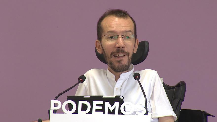 "Echenique afirma que Podemos participó en defensa del referéndum, ""la única solución viable"" para Cataluña"
