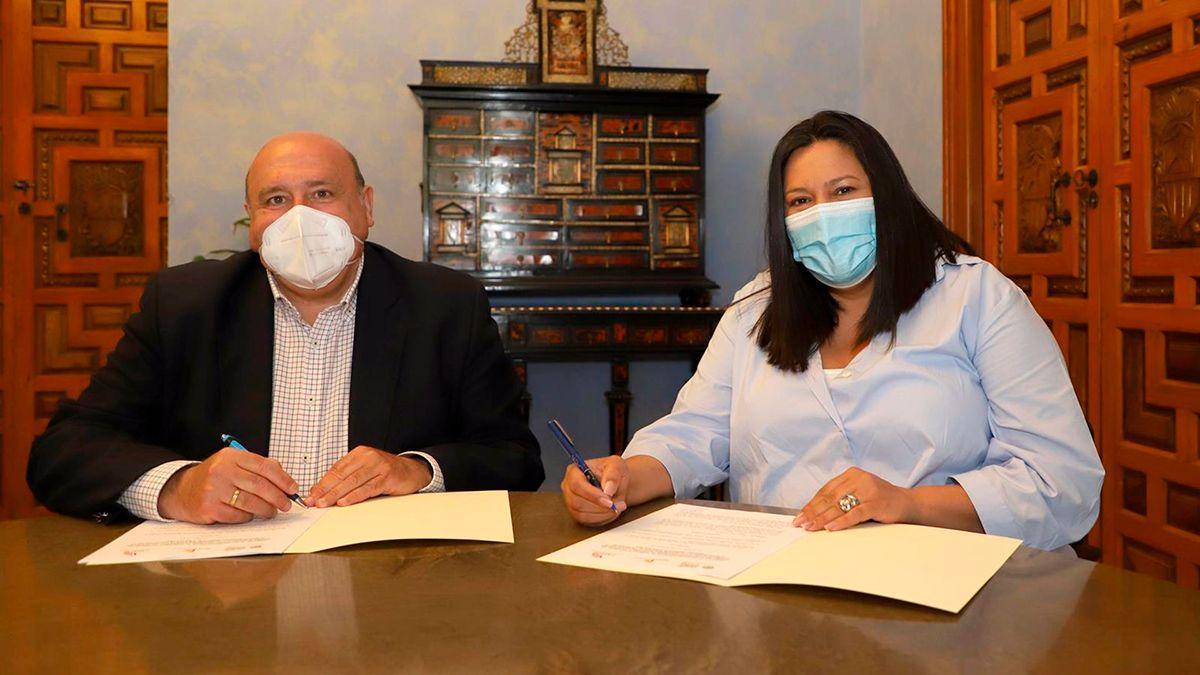 Acuerdo entre la Diputación y Amigos de los Patios.