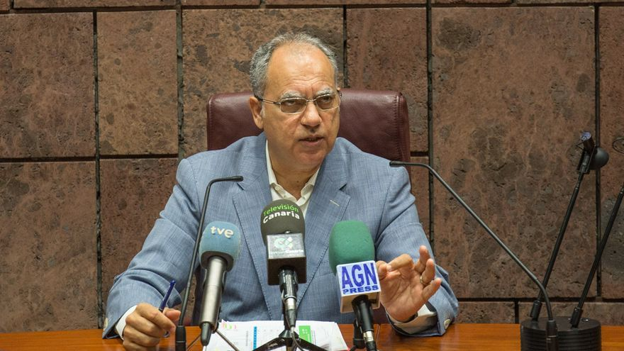 Rueda de prensa del Presidente del Cabildo Insular Casimiro Curbelo