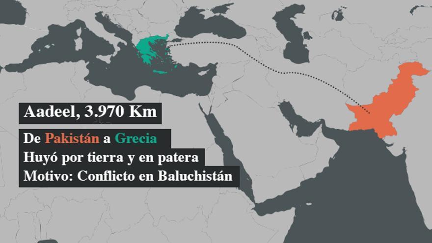Aadeel huyó del conflicto paquistaní en Baluchistan. Quería llegar a Alemania, pero quedó atrapado en Grecia tras el cierre de la ruta de los Balcanes.