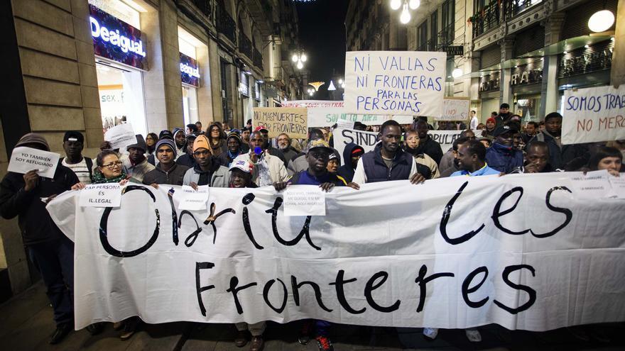 Marcha en Barcelona el Día Internacional del Migrante