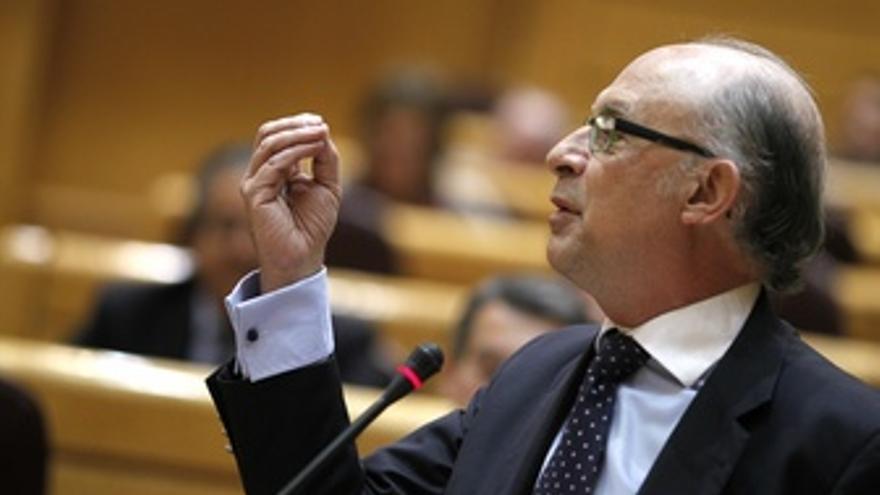 Cristóbal Montoro Interviene En El Pleno Del Senado