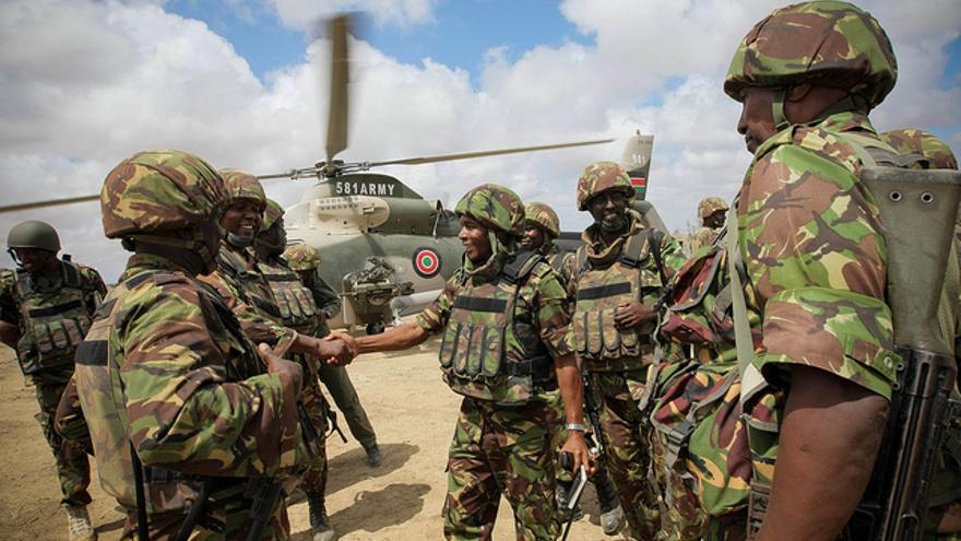 Tropas de AMISON, la misión de la Unión Africana en Somalia, en octubre de 2012.