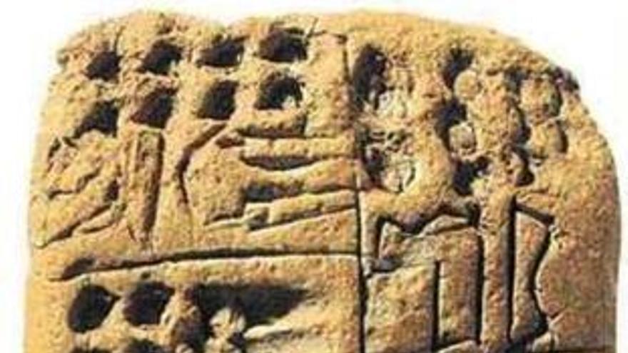 Tableta cuneiforme en la que se menciona a Tapputi