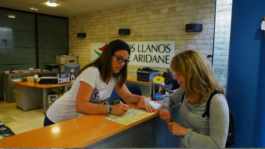 En la imagen, oficina de información turística de Los Llanos de Aridane.
