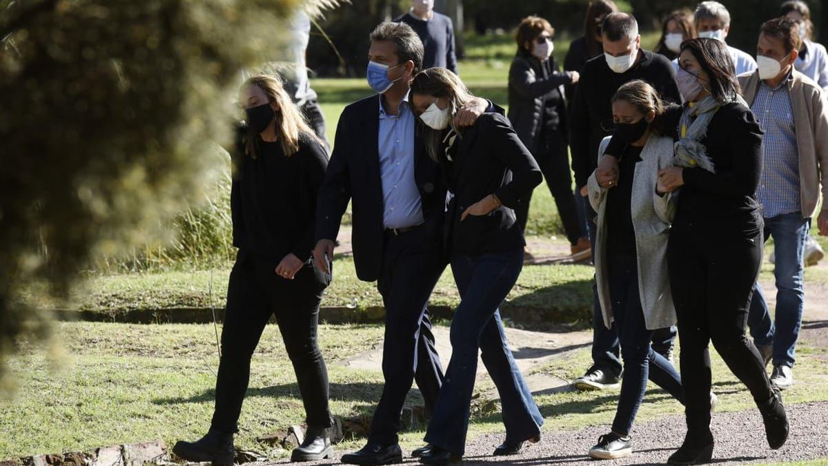El presidente de la Cámara de Diputados asistió al entierro de Meoni en Junín