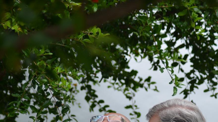 En la imagen, Ginés Lao y Luis Morera en un momento del rodaje. Foto: KAROLINA BAZYDLO