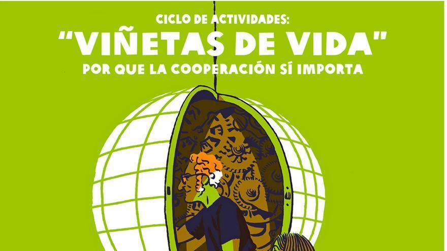 Cartel de la exposición 'Viñetas de vida', de Oxfam Intermón