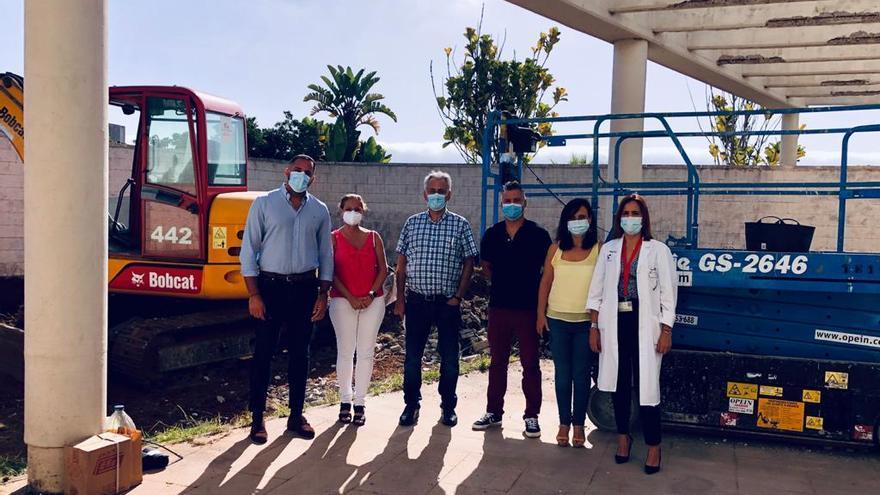 Sanidad inicia la obra de un área independiente en el Hospital General de La Palma para realizar pruebas de COVID-19