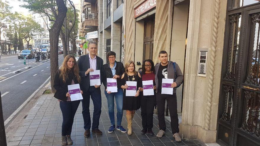 Esther Sanz, Héctor Illueca, Pilar Lima, Vicenta Jiménez, Rita Bosaho y Carles Font