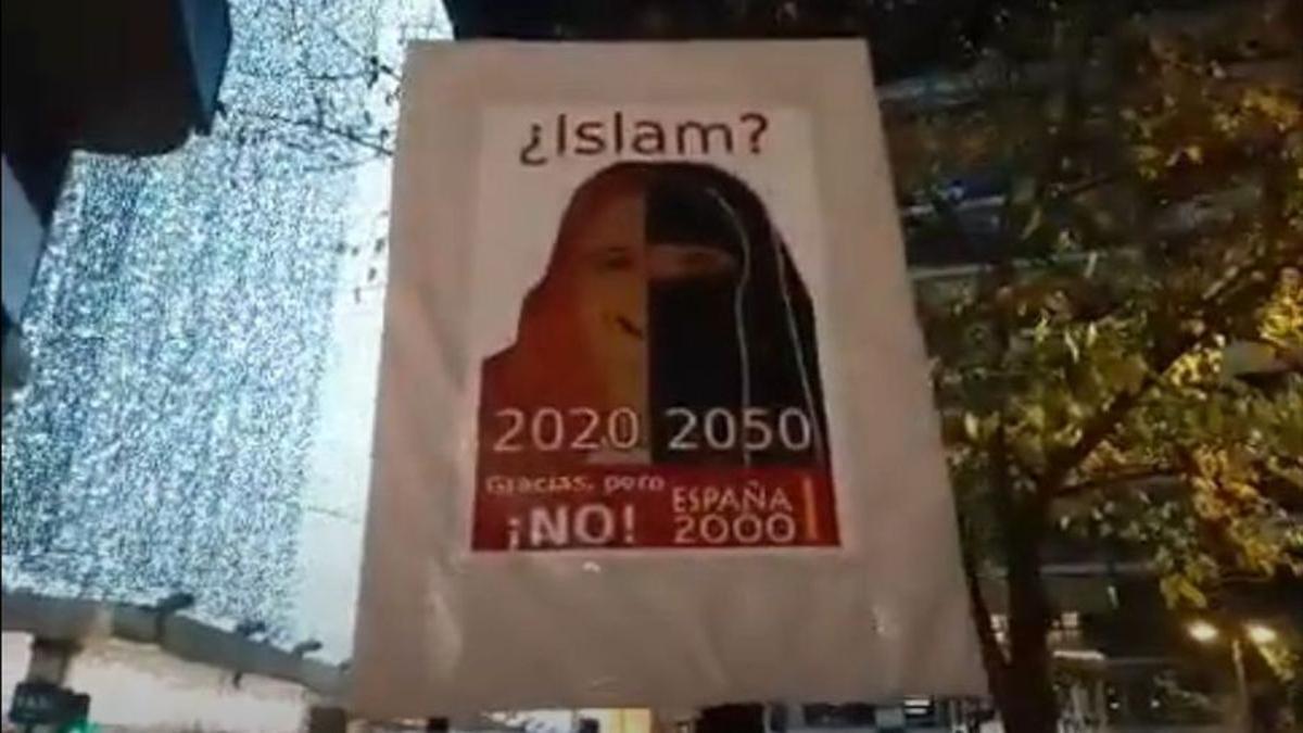 Concentració contra l'islam a València.