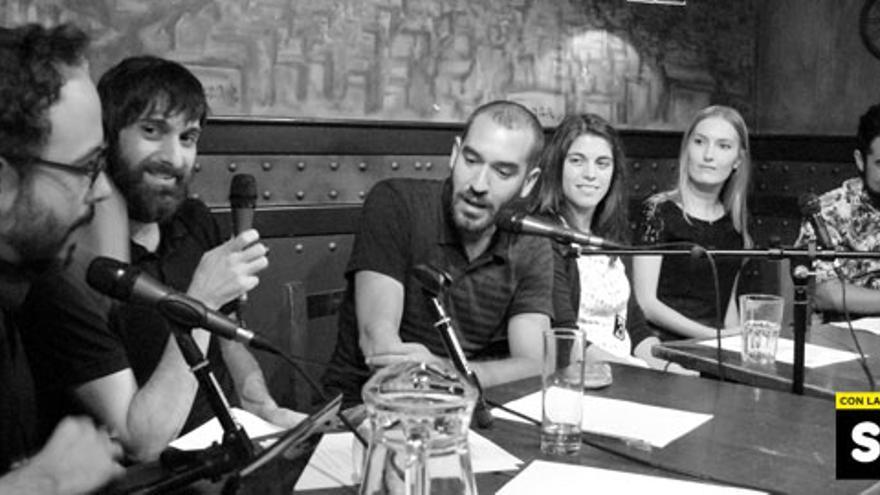 Jorge Ponce en la grabación de 'Lo de las noticias'